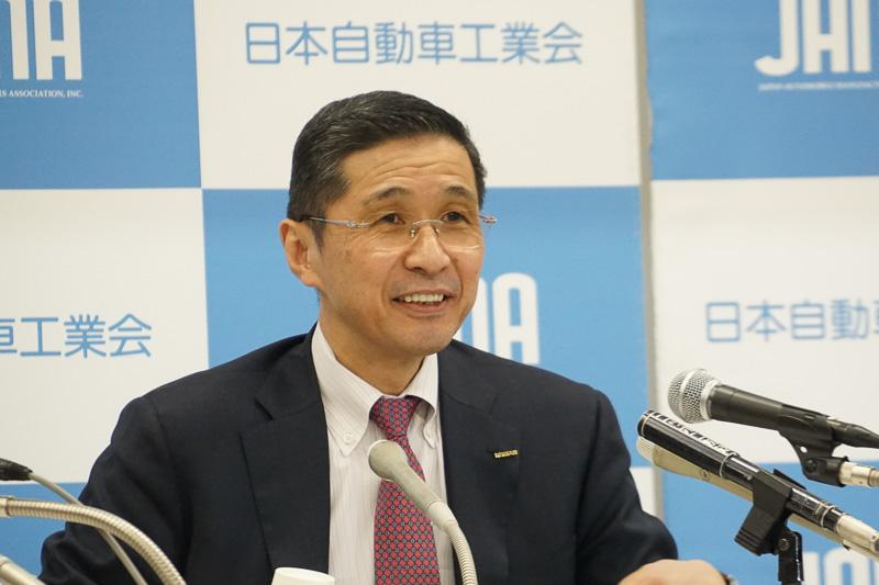 自動車工業会 会長の西川廣人氏