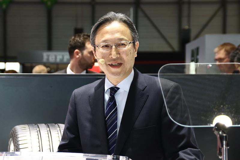プレスカンファレンスでスピーチを行なった横浜ゴム株式会社 執行役員 山本忠治氏