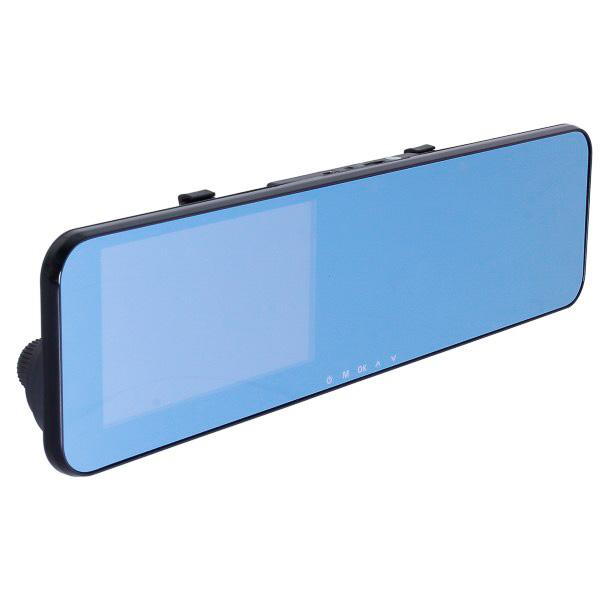 一般的な純正ルームミラーと同じクリア(左)、日差しや後続車のヘッドライトなどの光を軽減するブルー(右)の2種類から選べる
