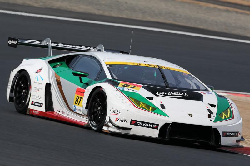 87号車 ショップチャンネル ランボルギーニ GT 3 細川慎弥/佐藤公哉/山西康司(18日)/高橋翼(19日)