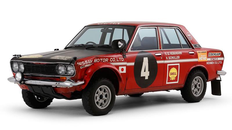 1970年「第18回東アフリカサファリラリー」日本車初総合優勝車の「ブルーバード 1600SSS」