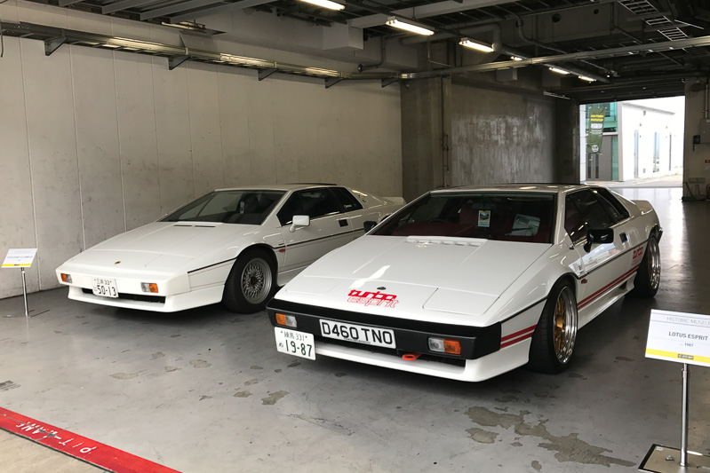 2台のロータス エスプリ(1987)