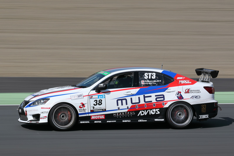 ST-3クラス1位 No.38 muta Racing TWS IS350(LEXUS IS350)堀田誠/阪口良平