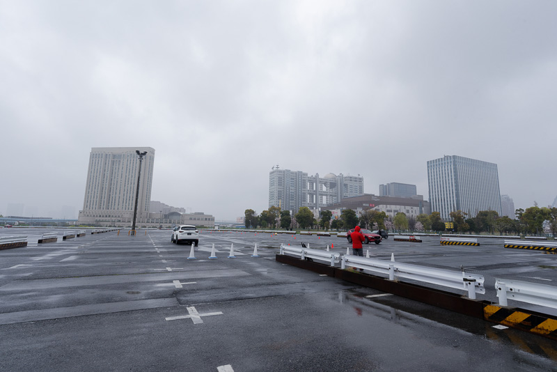 先進安全技術を体験した東京 お台場の試乗会場