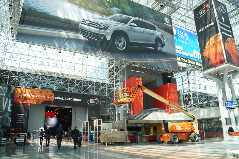 New York International Auto Show 2017の会場となる「ジェイコブ・ジャヴィッツ・コンベンションセンター」