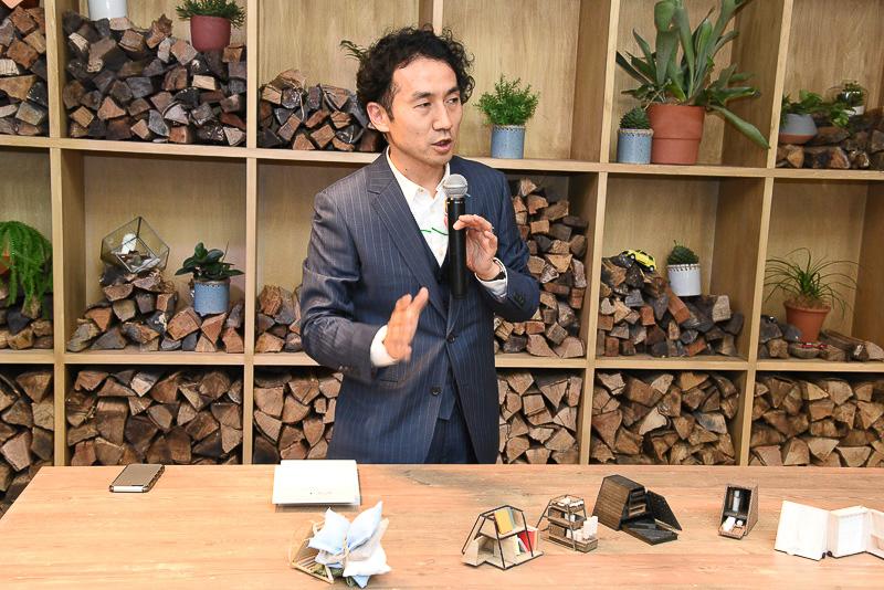 イベントのコンセプトなどについて紹介を行なった建築集団「オンデザイン」の西田司氏