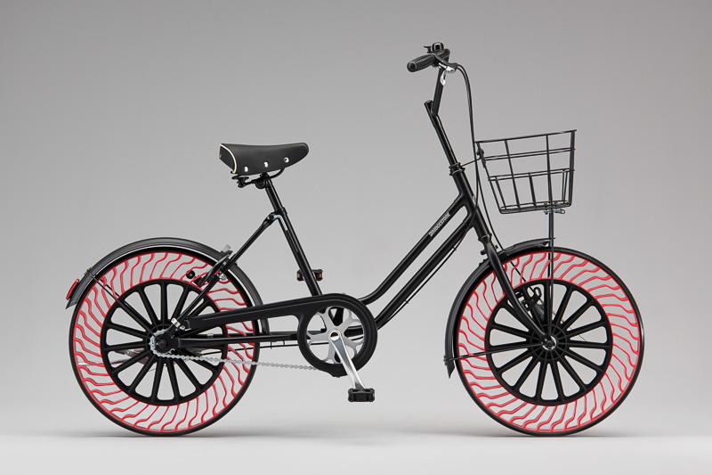 エアフリーコンセプトの自転車用タイヤ装着車