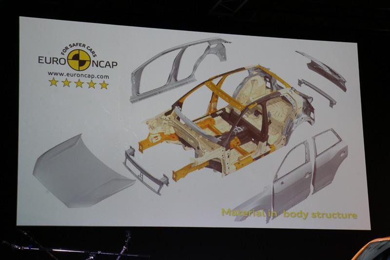 超高張力鋼板を22%採用することなどで、軽量さとボディ剛性を両立