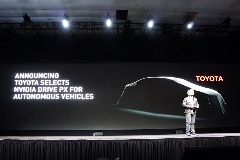 NVIDIA 創設者兼CEO ジェンスン・フアン氏は、GTCの基調講演でトヨタ自動車がNVIDIAのXavierを自動運転のシステムに採用することを発表した