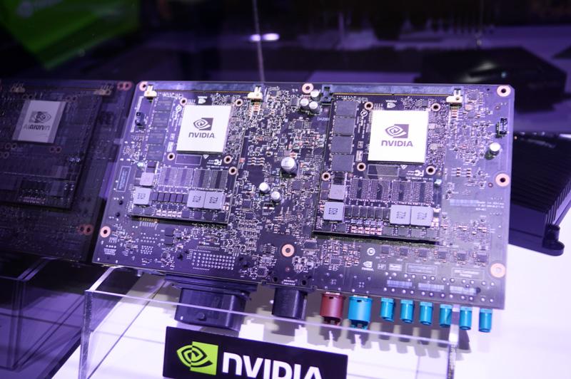 NVIDIAのDRIVE PX2には2つのParker+2つのPascal GPUという製品と、1つだけという複数の製品がある
