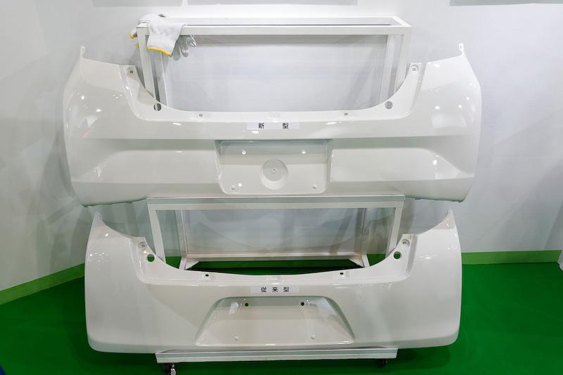 燃費向上を目指し、強度を維持したまま薄肉化したバンパーの新製造手法
