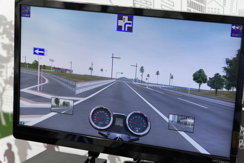 3D CGの仮想空間を走りまわることができる