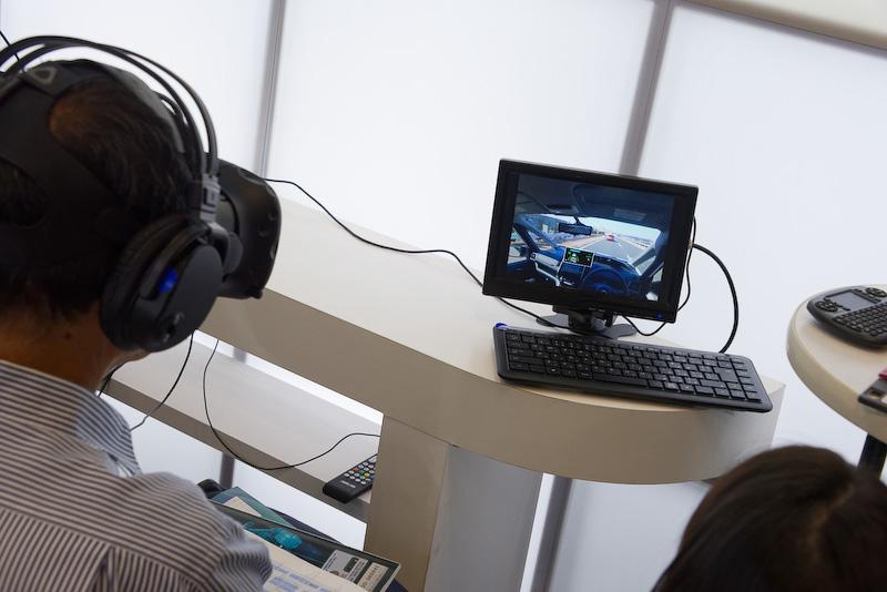 高速道路における同一車線自動運転技術「プロパイロット」を体験できるVRは大人気