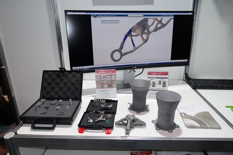 ダッソー・システムズのソリューションで制作した3Dデータを3Dプリンターで現物化した各種見本
