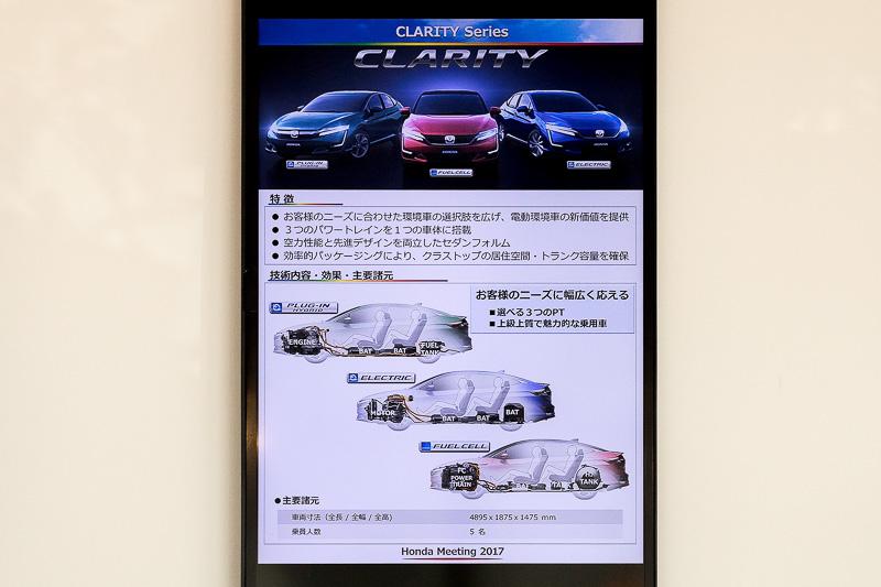 FCV/PHV/EVを世界で初めて同一プラットフォーム(土台)を使って成立させたクラリティシリーズ