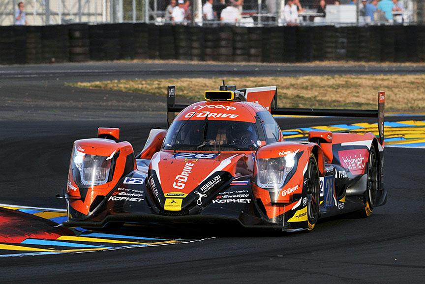LMP2クラスのポールを獲得した6号車 オレカ07・ギブソン(ロマン・ルシノフ/ピエール・ティリエ/アレックス・リン組)