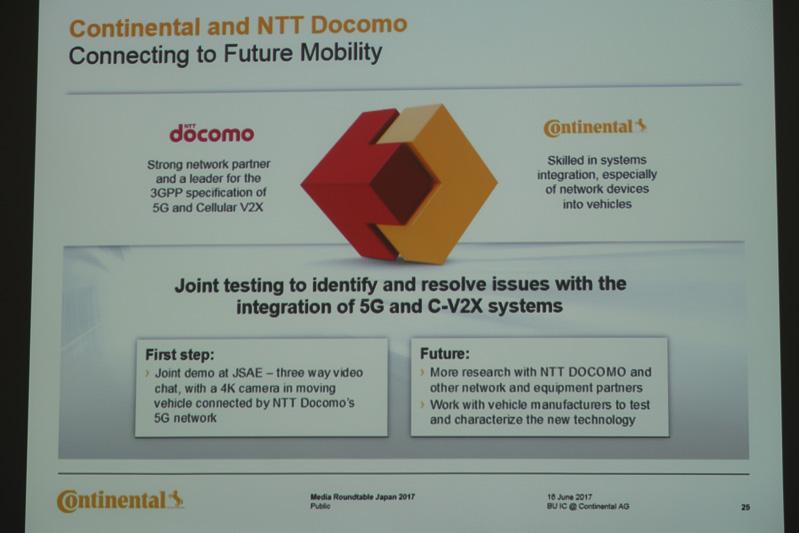 5Gをコネクテッドカーに採り入れていくため、NTTドコモと共同テストを行なっている
