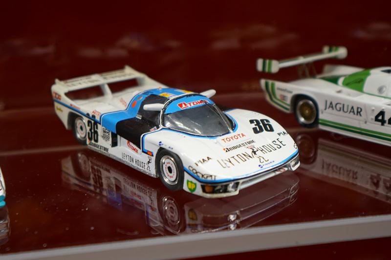 トヨタ・トムス85C-L、このスケールモデルはサルト・サーキットの博物館に展示されていた。この車両からトヨタのル・マン挑戦は始まった