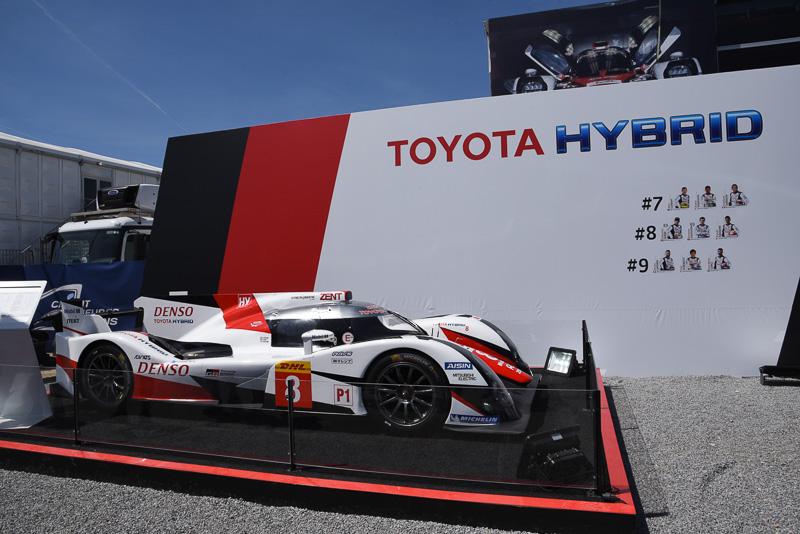 ル・マンのサルトサーキットに設置されているトヨタのホスピタリティスイートで決勝前プレスカンファレンスが行なわれた