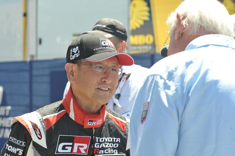 ル・マン24時間レースのスタートに駆けつけたトヨタ自動車株式会社 代表取締役社長 豊田章男氏