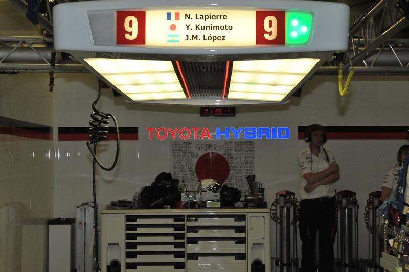 9号車 トヨタTS050 HYBRID(ニコラス・ラピエール/ホセ・マリア・ロペス/国本雄資組)は、結局ピットに帰ってくることができずリタイヤとなった