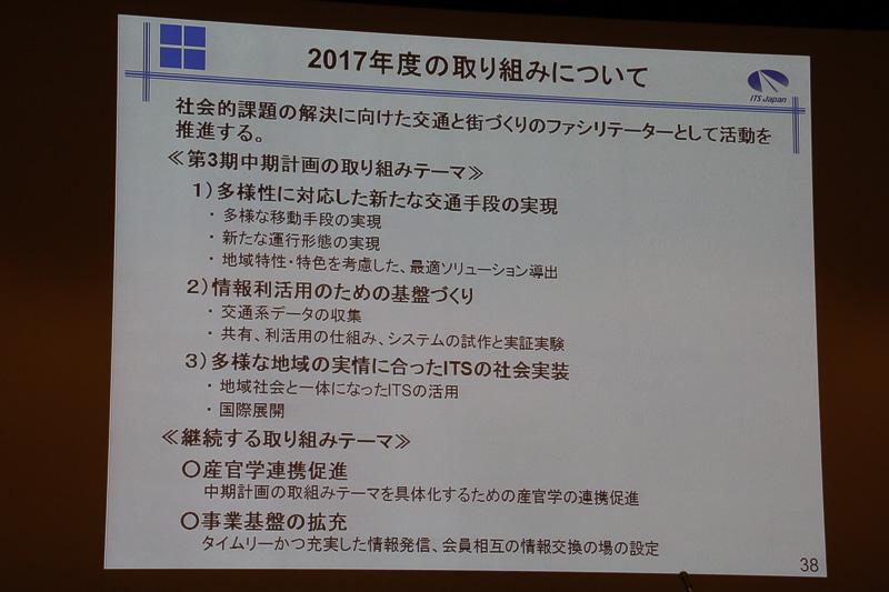 ITS Japanの2017年度の取り組み