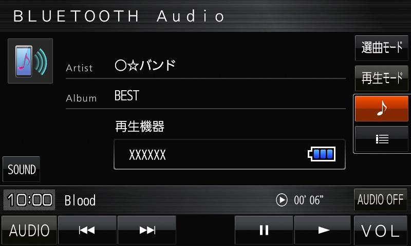 「Bluetooth Audio」イメージ