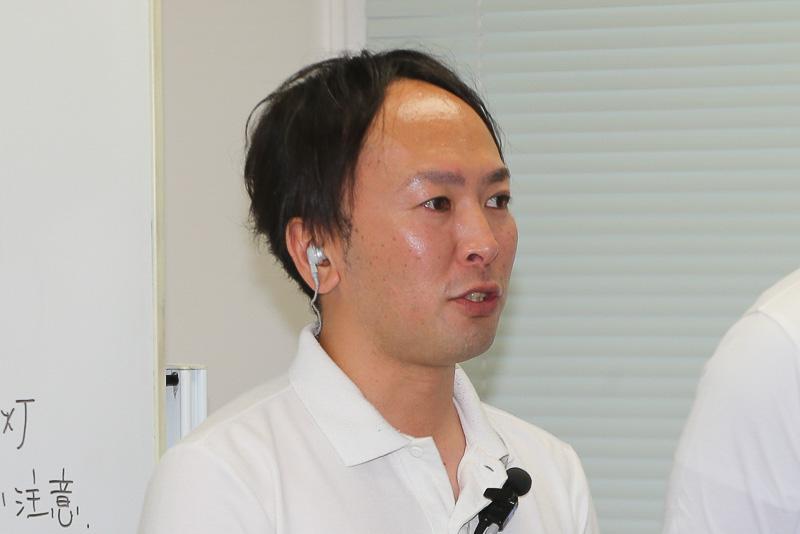 森岡史雄氏。ドイツ ポロワンメイクレースへの参戦経験があるほか、自動車メーカー主催イベントでのインストラクターや国内外でのテストドライバーなども務める