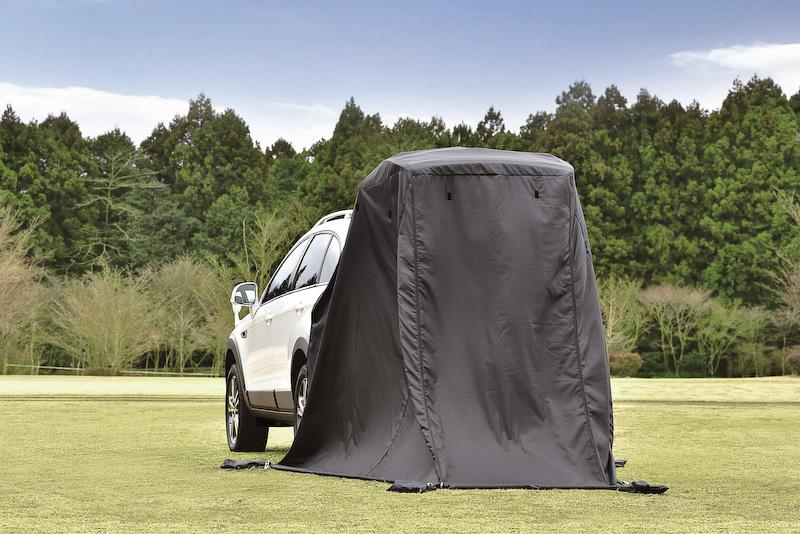専用バックドア用テント(日よけ、雨よけや着替えに使用可能)