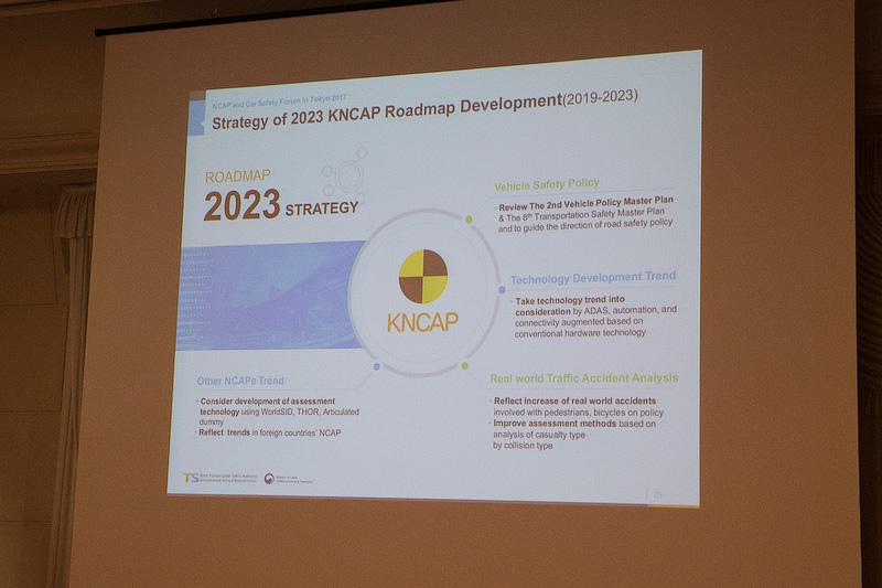K NCAPでは、まさにいま2023年までのロードマップが作られている。安全対策の強化を着実に行なっているとのこと