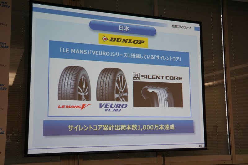 「ダンロップ」ブランドで新商品「LE MANS V(ル・マン ファイブ)」を中心に高付加価値商品を拡販