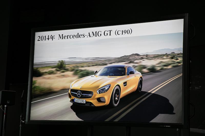 2014年には自社開発モデルの第2弾としてメルセデスAMG GTがデビューした