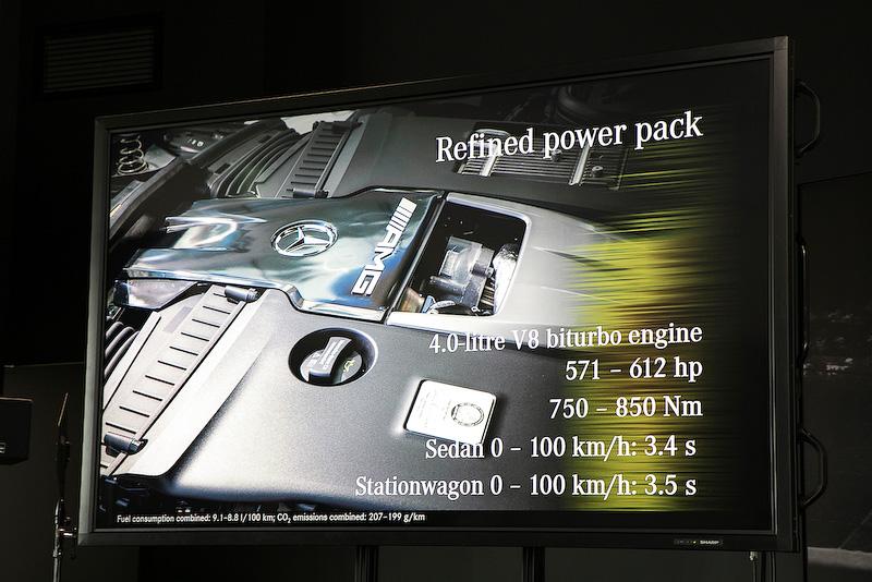 エンジンは4.0リッターV8直噴ツインターボ。先代より排気量が1.5リッター少なくなっているが、最高出力は450kW(612PS)、最大トルクは850Nmを発生。先代比でパワーは27PS増、トルクで50Nm増となっている