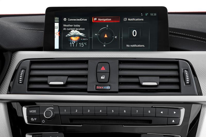 BMWコネクテッド・ドライブの画面イメージ