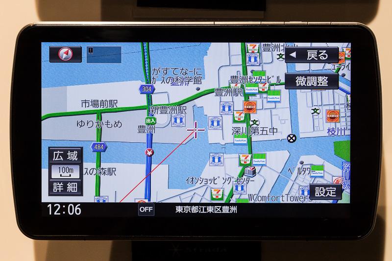 CN-F1D地図画面