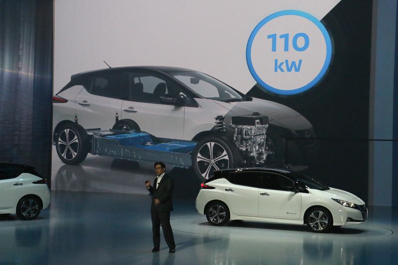新型リーフに搭載されたさまざまな新技術については、日産自動車株式会社 副社長 製品開発担当の坂本秀行氏から解説が行なわれた