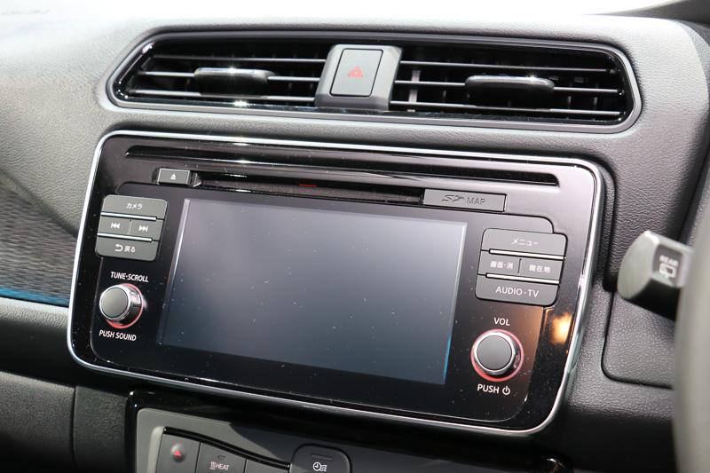 7インチワイドディスプレイの「EV専用Nissan Connectナビゲーションシステム」はXとGに標準装備