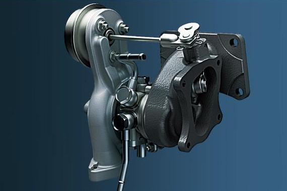 ターボチャージャーは低回転から過給が立ち上がる小型のものを採用。アクセル操作に対するレスポンスに優れている