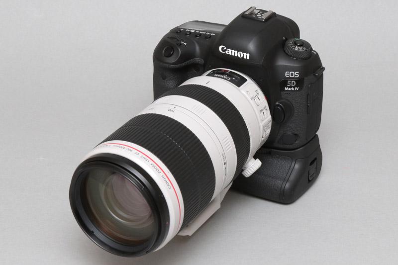 今年のF1日本GPで貸し出されるカメラはEOS 5D Mark IV(バッテリグリップ付)+EF100-400mm F4.5-5.6L IS II USM