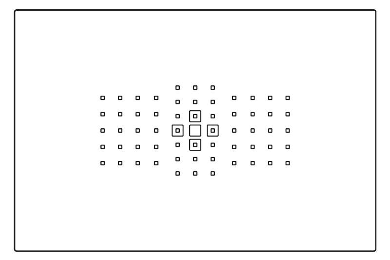 お勧め設定:領域拡大AF(上下左右)
