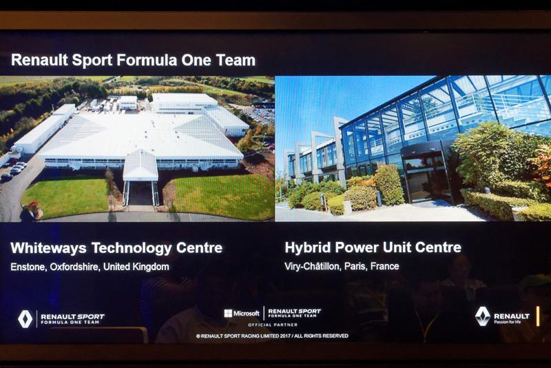 ルノーF1チームの主要拠点となるファクトリーはイギリスとフランスの2カ所にある