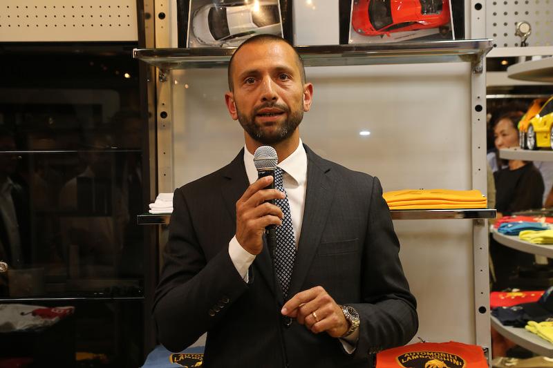 ランボルギーニ ジャパン カントリー・マネージャーのフランチェスコ・クレシ氏