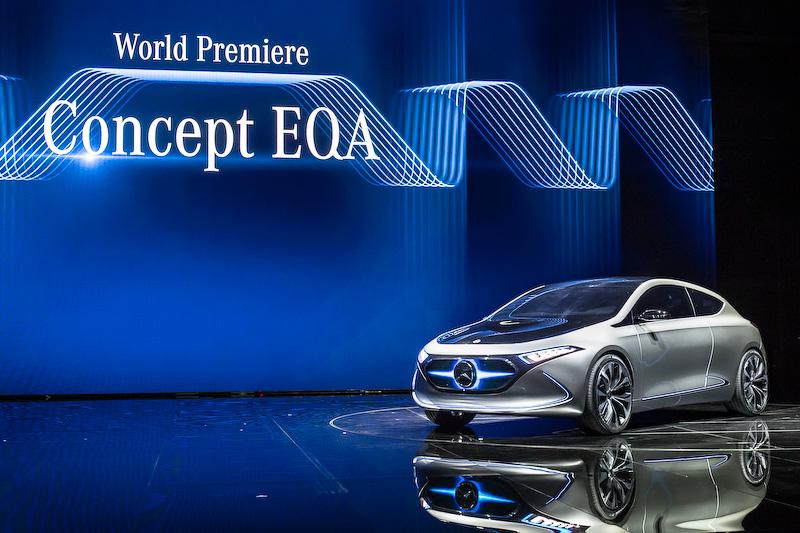 """電気自動車(EV)のコンセプトモデル<a href=""""http://car.watch.impress.co.jp/docs/event_repo/2017frankfurt/1080618.html"""">「Concept EQ A」</A>"""