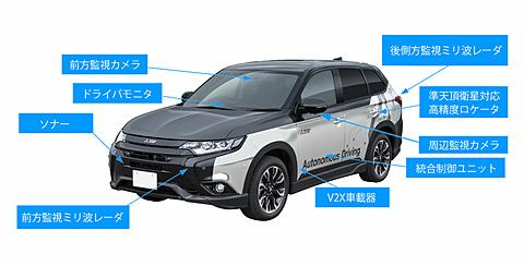 三菱電機、準天頂衛星からの「CLAS信号」で実証実験している自動運転車「xAUTO」東京モーターショー2017に出展 自動運転技術の実証実験車「xAUTO(エックスオート)」