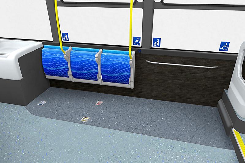 日本で初採用となる自動格納機構付き横向きシート