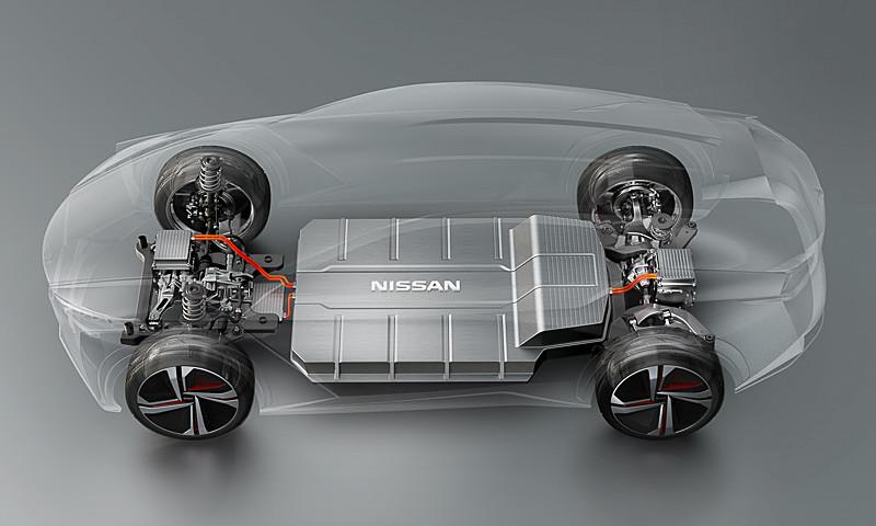 EV専用プラットフォームに、ツインモーター4WD、高密度・大容量バッテリーを搭載
