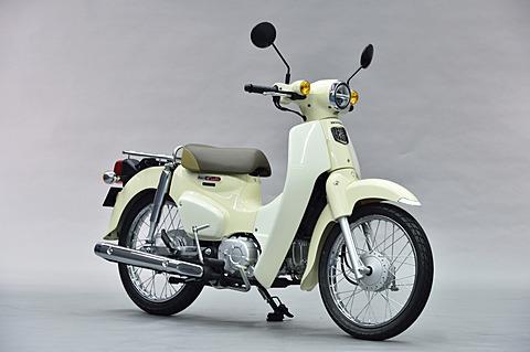 ホンダ、熊本製作所で生産する新型「スーパーカブ50」「スーパーカブ110」。価格は23万2200円から スーパーカブ110(バージンベージュ)