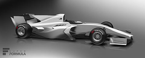 【スーパーフォーミュラ最終戦 JAF鈴鹿グランプリ】ラップタイムを2秒速く、2019年から導入の新型車両「SF19」デザイン公開。ダラーラCEO来日会見 新型車両「SF19」のイメージ図