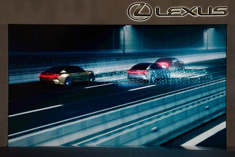 LS+ Conceptの自動運転機能「Highway Teammate」を紹介するイメージ動画が上映された