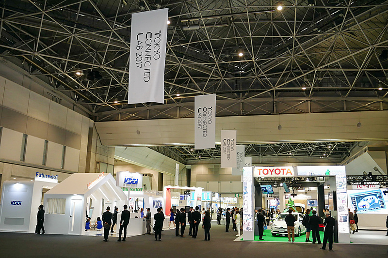 「TOKYO CONNECTED LAB 2017」ではトヨタ、日産、ホンダなどがモビリティ社会について展示